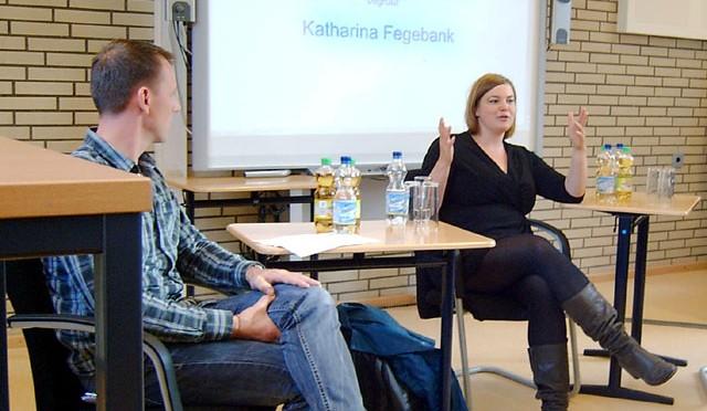 Schülerprojekt Schüler interviewen Politikerin