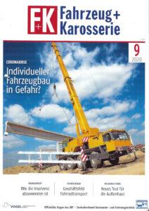 Titelblatt der Zeitschrift F und K von 09 2020