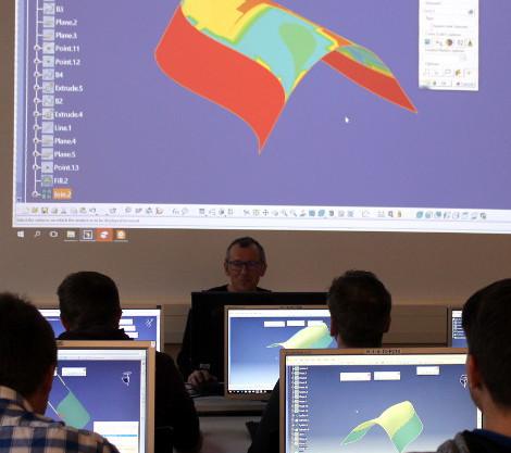 CAD Raum der Technikerschule