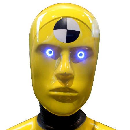 Kopf eines Crash test dummies