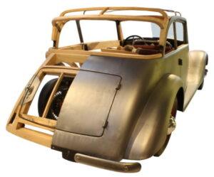 Holzaufbau eines Automodells