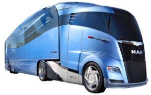 MAN Studie 3D Bild eines futuristischen Busses